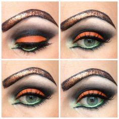 Halloween pumpkin make up. | Makeup | Pinterest