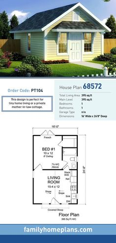 Traditional Style House Plan 68572 with 1 Bed 1 Bath Traditional Style House Plan 68572 with 1 Bed 1 Bath D mostprinzessin Mikrohaus-Design Tiny House Plan 68572 Total Living nbsp hellip 1 Bedroom House Plans, Living Room Floor Plans, Small House Plans, House Floor Plans, Tiny Home Floor Plans, Guest House Plans, Guest Cottage Plans, Small Cottage Plans, Shed House Plans