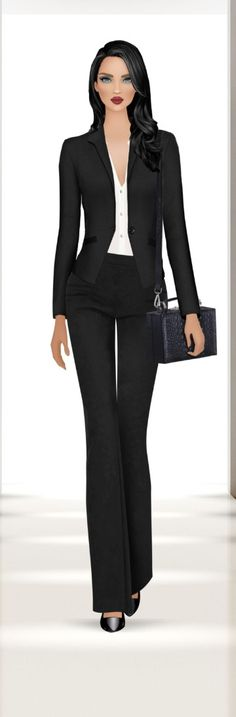 Business Suits, Business Women, Covet Fashion, Fashion Design, Estilo Retro, Fashion Games, Beautiful Dolls, Suits For Women, Puzzles