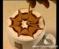 How to make a good coffee? Neat, shows how to make different patterns on the top of your coffee. #coffee