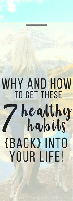 These are 7 healthy habits you are going to want to pick up ASAP! #healthyhabits, #healthylifestyle, #mentalhealth, 7 healthy habits, healthy habits for women, fighting depression, good habits, healthy lifestyle habits, healthy habits for life, healthy living habits, health tips