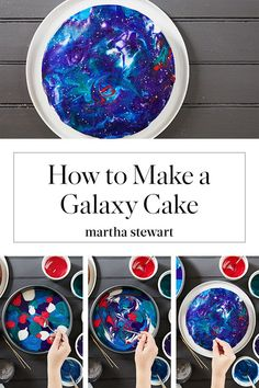 This Galaxy Cake Is So Easy to Decorate Dieser galaxy cake ist so einfach zu dekorieren Mit he Fondant Figures, Planet Cake, Galaxy Cake, Galaxy Cupcakes, Mirror Glaze Cake, Mirror Glaze Recipe, Space Party, Space Theme, 9th Birthday