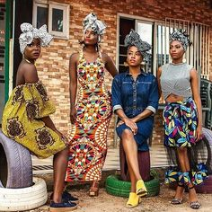 African Prints in Fashion - Love the vibe & the look - RP @thewraplife Photo...