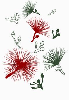 Caliandra's flowers (art print on paper or textile) 2015 Ligia de Medeiros