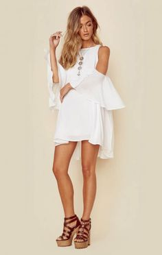 Indah New Marcella High Neck Mini Love this outfit: CollectiveStyles.com ♥ Fashion | Women apparel | Women's Clothes | Dresses | Outfits | Rompers | PlaySuits | Boohoo | Express | Off The Shoulder | #clothes #maxi #fashion #dresses #women #tops #shop