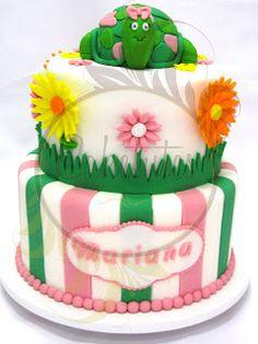 Caketutes Cake Designer: Bolo Tartaruga da Mariana - Turtle Cake