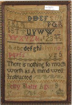 1789 Needlework Alphabet Sampler