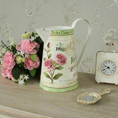 Floral French Rose metal jug