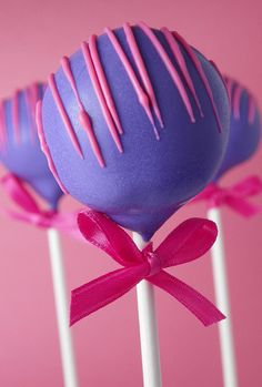 Cake pops, great colours!