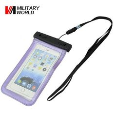 Military World 100% Waterproof Bag Case Pouch Dust Proof Underwater Pack Cover Case For Phone Travel Running Swimming Pouch
