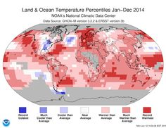 Scientists announced new climate data on Friday, and 2014 broke the record for warmest year.