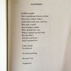 Nikki Giovanni- Allowables