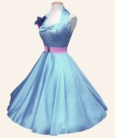 50s Halterneck Satin Dresses from Vivien of Holloway | 1950s Dresses from Vivien of Holloway