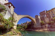 Stari Most, Old Bridge, Mostar, Bosnia And Herzegovina by Elenarts - Elena Duvernay photo Mostar Bosnia, Famous Places, Bosnia And Herzegovina, Tower Bridge, Travel Photos, Fine Art America, Travel Pictures, Travel Photography
