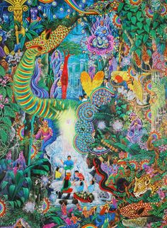 Runin by Pablo Amaringo (ayahuasca paintings)