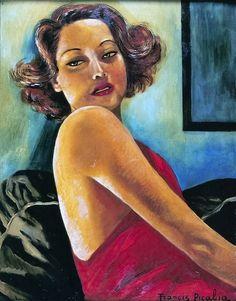 Francis Picabia, portrait of Viviane romance