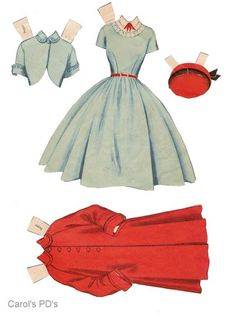 Teen Time paper dolls 1950's #6 / Ebay Paper Doll Template, Paper Dolls Printable, Doll Clothes Patterns, Clothing Patterns, Paper Dolls Clothing, Vintage Style, Vintage Fashion, Vintage Wardrobe, Vintage Paper Dolls