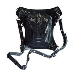 Punk bag thigh Motor leg Outlaw Pack Holster Protected Purse Shoulder Backpack Purse PU leather men pack