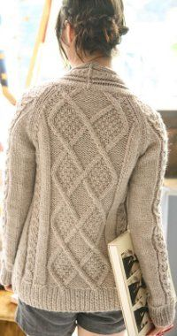 Aidez Fitted Cardigan 10.5  Yarn Weight: (4) Medium Weight/Worsted Weight and Aran (16-20 stitches to 4 inches)