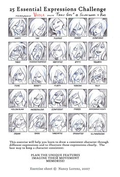 deviantART: More Like 25 Expressions Challenge by solitarium