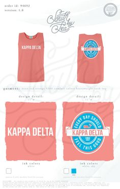 Kappa Delta   Every Day Should Feel This Good   KD Bid Day Shirts   Bid Day Shirt Inspiration   South by Sea   Sorority Shirts   Sorority Tanks   Greek Shirts