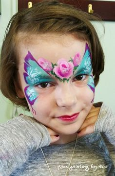 butterfly face painting Telford
