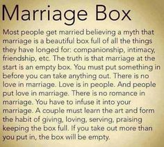 Marriage is what you make it. It is not a destination, it is a journey; a challenge. #love