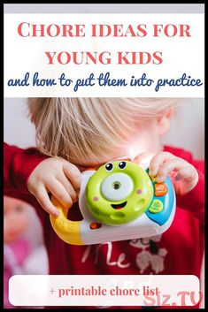 Easy chore ideas for young kids and how to put them into practice {+ printable list} - (MG) Parenting Tips & Tricks - Baby Food Chores For Kids By Age, Chore List For Kids, Toddler Activities, Fun Activities, Toddler Chart, Chore Ideas, Baby Food By Age, Toddler Discipline, Save The Children
