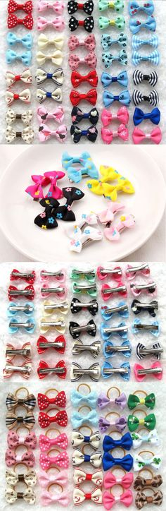 Other Dog Grooming 177794: Pet Girl Puppy Band Clips Bowknot Dog Hair Bows Pins Hairpin Flower Grooming Lot BUY IT NOW ONLY: $119.99