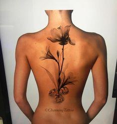 Large x-ray flowers ray tattoo, tattoo you, tattoo near me, cute Flower Spine Tattoos, Small Flower Tattoos, Large Tattoos, Flower Tattoo Designs, Body Art Tattoos, Girl Tattoos, Finger Tattoos, Sleeve Tattoos, Tattoos For Women