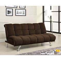 Guest room - Furniture of America Maybeline Padded Corduroy Futon Sofabed | Overstock™ Shopping - Great Deals on Furniture of America Futons