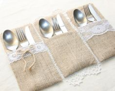 Sample silverware holder by Littlewhiteboutique on Etsy