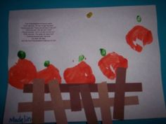 5 little pumpkins...