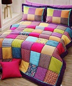 38 What You Have To Know About Mediterranean Stars Grid Style Cotton Bed In A Bag And Why 78 Copy - flipsyourhome Cotton Bedding, Quilt Bedding, Bedding Sets, Puffy Quilt, Bed Cover Design, Bed In A Bag, Quilting For Beginners, Patch Quilt, Applique Quilts