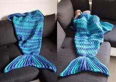 Mermaid Blanket Häkeldecke