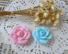 4pcs 25mm Polymer Clay flowers FIMO flowers Straight by baosy, $2.99