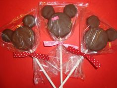 chocolate covered oreo mickey mouse lollipops