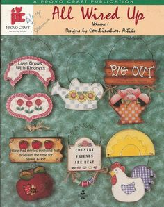 All Wired Up Volume 1 Decorative Tole Painting Craft Book