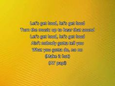Dance Break- Jennifer Lopez - Let's Get Loud, Lyrics In Video
