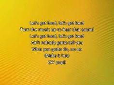 Dance Break- Jennifer Lopez - Let's Get Loud, Lyrics In Video