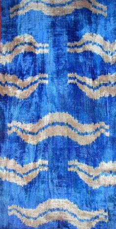 Uzbek silk velvet, handloomed