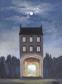 """amare-habeo: """" René Magritte - La Maison, c. 1947 """""""