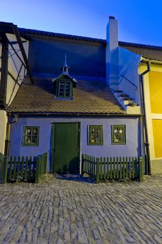 Small houses of alchemists in Golden Lane, Prague, Czechia