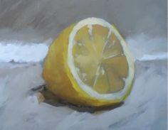 Acrylic Painting Exercise Two: Lemon   BeginnersSchool.com