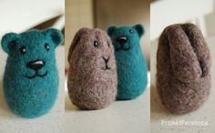 needle felted rattles