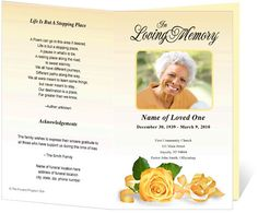 Free Memorial Service Program Template  The Funeral Programs Site