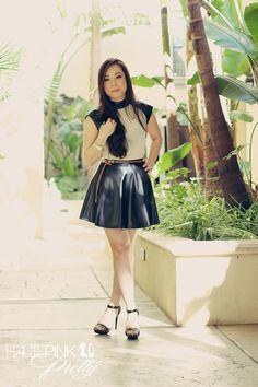 falda de chiffon corta con puntos - Buscar con Google