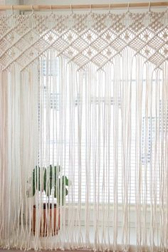 Items similar to Macrame Curtain, Macrame Window Curtain, Window Curtain, Macrame Wall Hanging, Modern Ma Macrame Design, Macrame Art, Macrame Projects, Macrame Knots, Macrame Modern, Boho Curtains, Macrame Curtain, Curtain Hanging, Wall Curtains