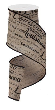 """4""""X10YD LOUISIANA - #louisiana #ribbon #craigbachman"""