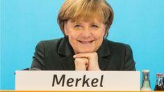 9. Dezember, #Angela #Merkel zeigt sich nach ihrer Rede auf dem Kleinen #Parteitag in #Berlin zufrieden. Die CDU-Mitglieder segneten dort den #Koalitionsvertrag von Union und SPD ab. (Foto: dpa)